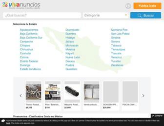 vivanuncios.com.mx screenshot