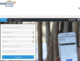 recharge.oneindia.com screenshot