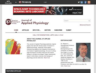 Main page screenshot of jap.physiology.org