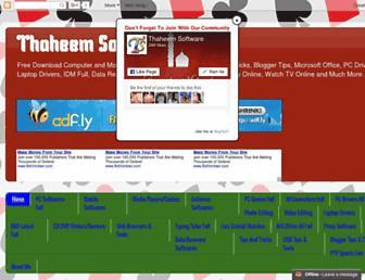 thaheemsoftware.blogspot.com screenshot