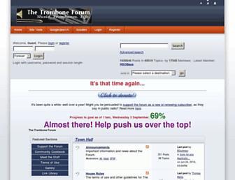 Main page screenshot of tromboneforum.org