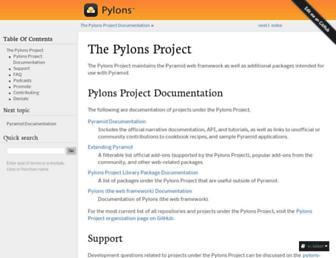 docs.pylonsproject.org screenshot