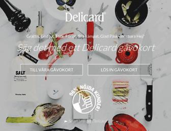 delicard.se screenshot