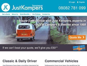 justkampersinsurance.com screenshot