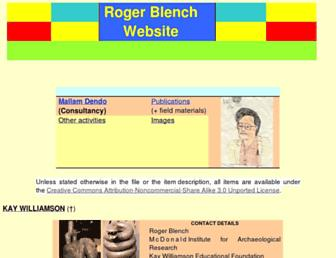 rogerblench.info screenshot
