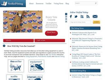 verifiedvoting.org screenshot