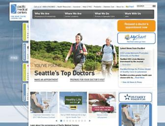 pacificmedicalcenters.org screenshot