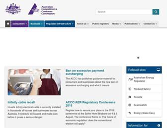 accc.gov.au screenshot