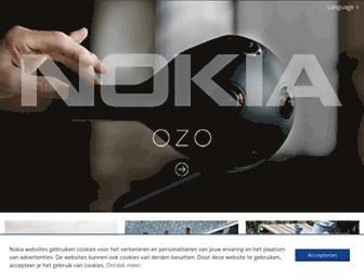 Main page screenshot of nokia.be
