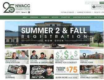 Screenshot for nwacc.edu