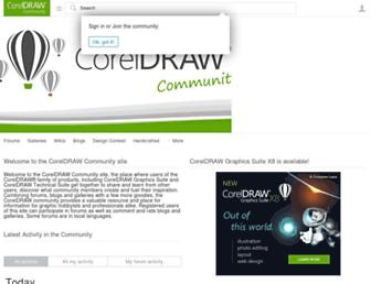 community.coreldraw.com screenshot
