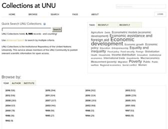 collections.unu.edu screenshot
