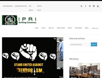 ipripak.org screenshot