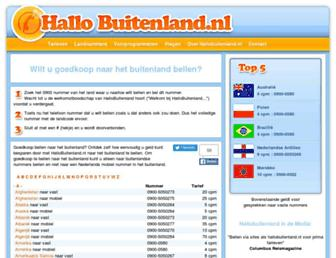 hallobuitenland.nl screenshot