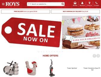 roys.co.uk screenshot