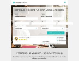 Main page screenshot of umzugsauktion.de