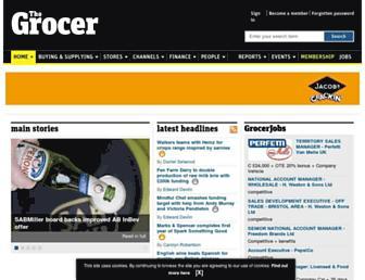 Main page screenshot of thegrocer.co.uk