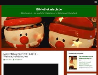 Main page screenshot of bibliothekarisch.de