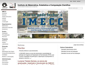 Main page screenshot of ime.unicamp.br