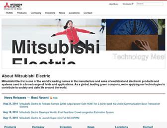dl.mitsubishielectric.com screenshot