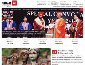 chitkara.edu.in screenshot