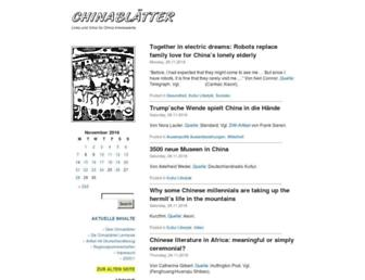 Main page screenshot of chinablaetter.info