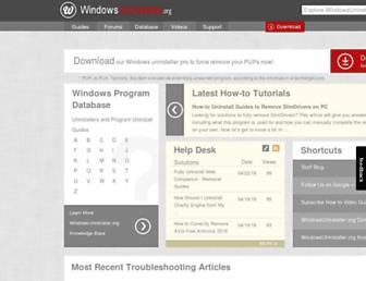 windowsuninstaller.org screenshot