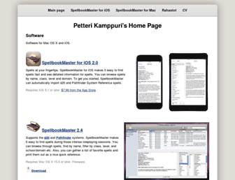 Main page screenshot of petteri.kamppuri.fidisk.fi