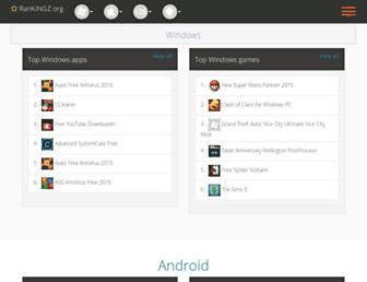 rankingz.org screenshot