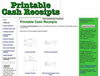 printablecashreceipts.com screenshot