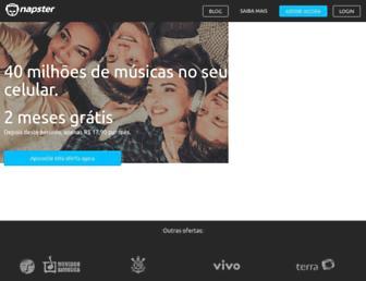 br.napster.com screenshot