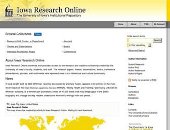 ir.uiowa.edu screenshot