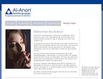 Main page screenshot of al-anon.de