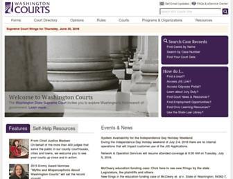 courts.wa.gov screenshot