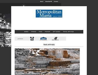 Main page screenshot of metropolitanmama.net