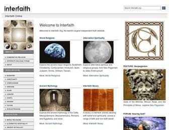 Main page screenshot of interfaith.org