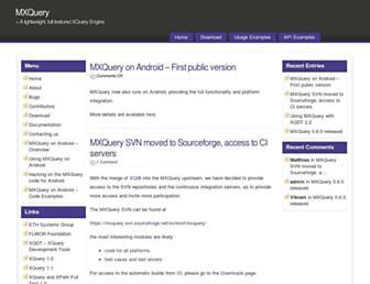 mxquery.org screenshot