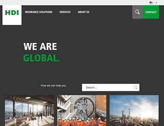 Main page screenshot of hdi-gerling.ch