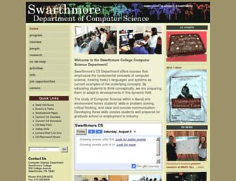 cs.swarthmore.edu screenshot