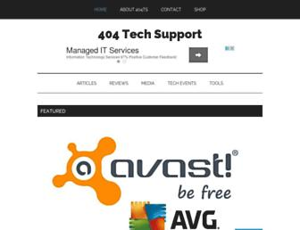 404techsupport.com screenshot
