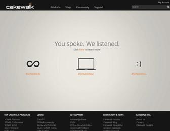 cakewalk.com screenshot