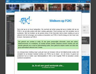 Main page screenshot of fok.nl