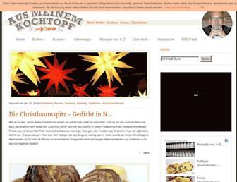 Main page screenshot of aus-meinem-kochtopf.de