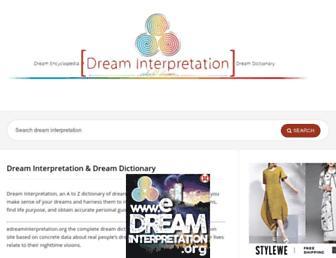 edreaminterpretation.org screenshot