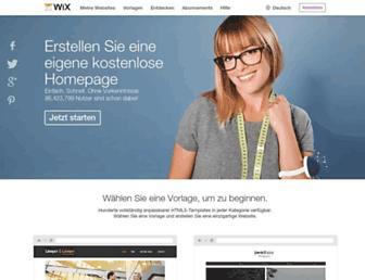 de.wix.com screenshot
