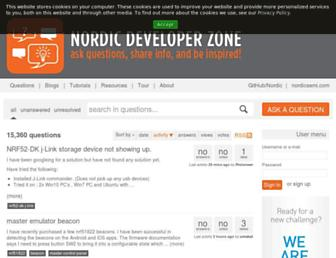 devzone.nordicsemi.com screenshot