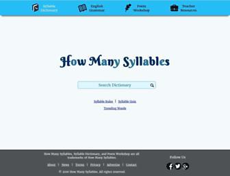 Thumbshot of Howmanysyllables.com