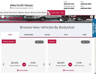 mikesmithnissan.com screenshot