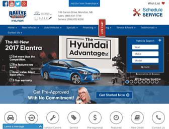 rallyemotors-hyundai.ca screenshot