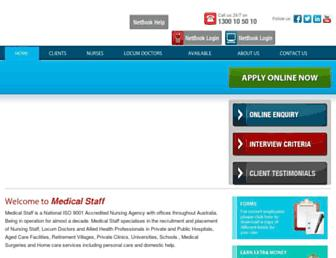 medicalstaff.com.au screenshot